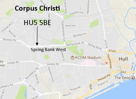 West Hull AA Corpus Christi map